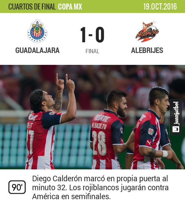 Chivas venció a Alebrijes y jugará las semifinales contra América