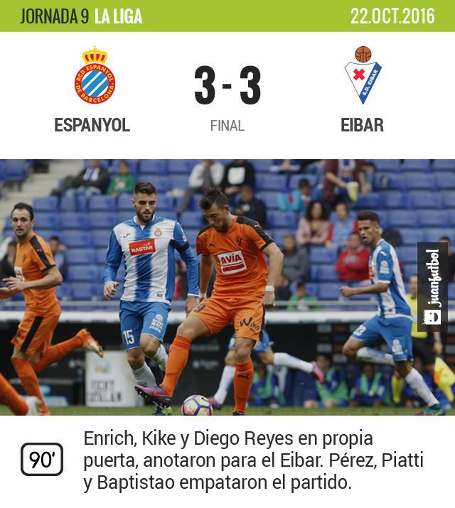 Diego Reyes anota autogol ante el Eibar