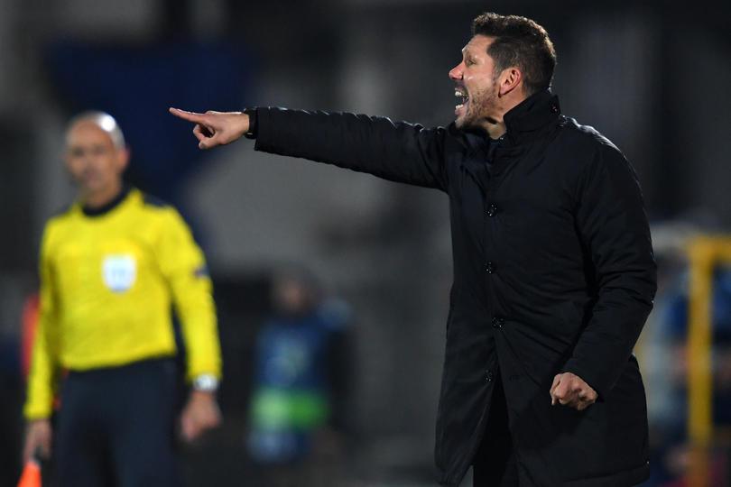 Simeone,el entrenador del Atléticos de Madrid, es nombrado el mejor entrenador de la Liga Española
