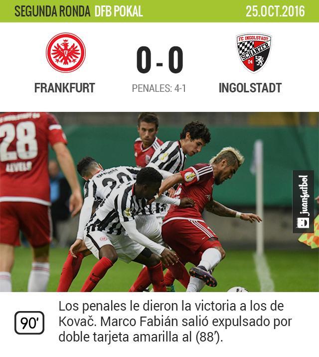Frankfurt ganó en penales