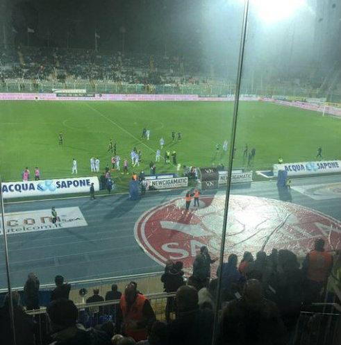 El sismo se sintió fuerte en la casa del Pescara, el estadio Adriatico
