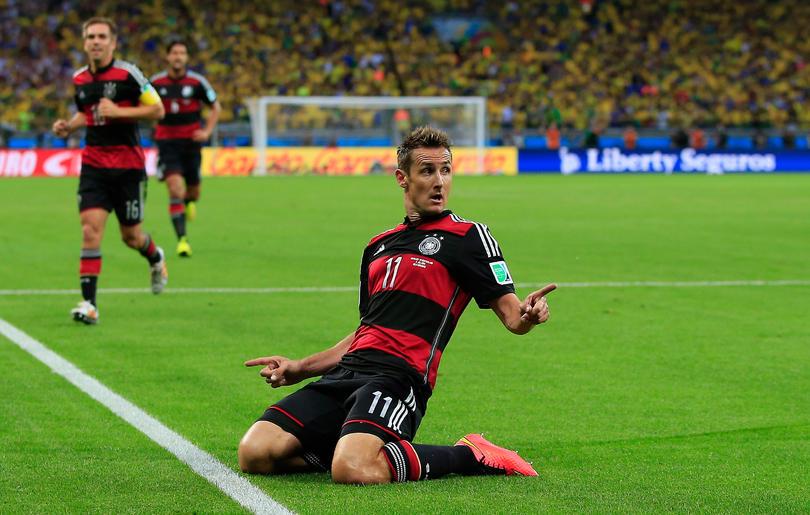 Miroslav Klose en el Mundial de 2014