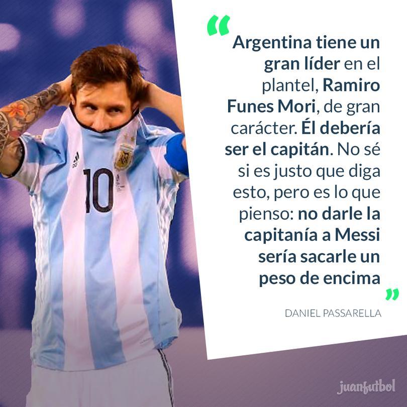 Passarella asegura que Messi no debe ser capitán de Argentina