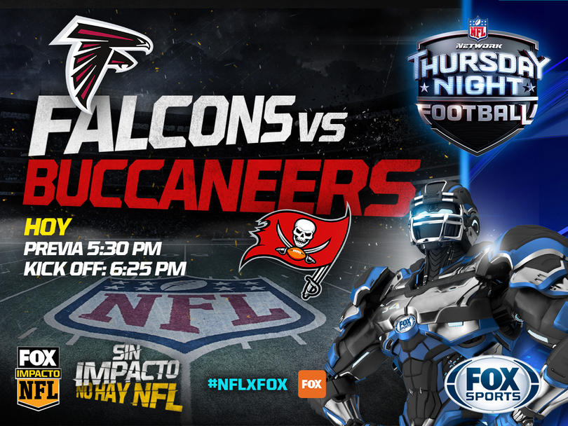Thursday Night entre Falcons y Bucaneros en FOX Sports.