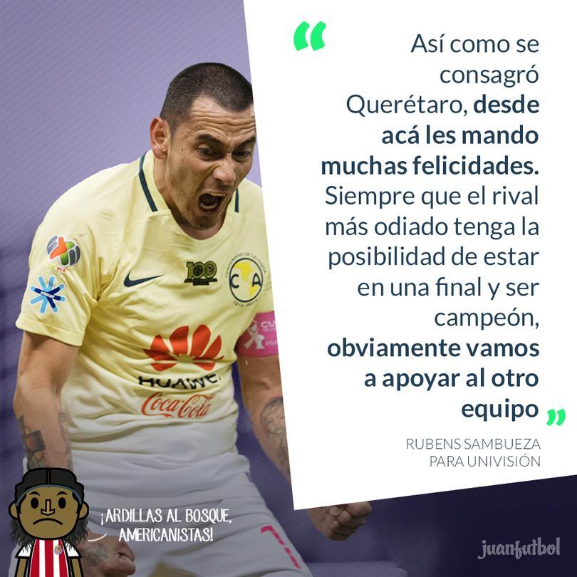 Sambueza declaró que siempre se apoyará al que juegue contra Chivas.