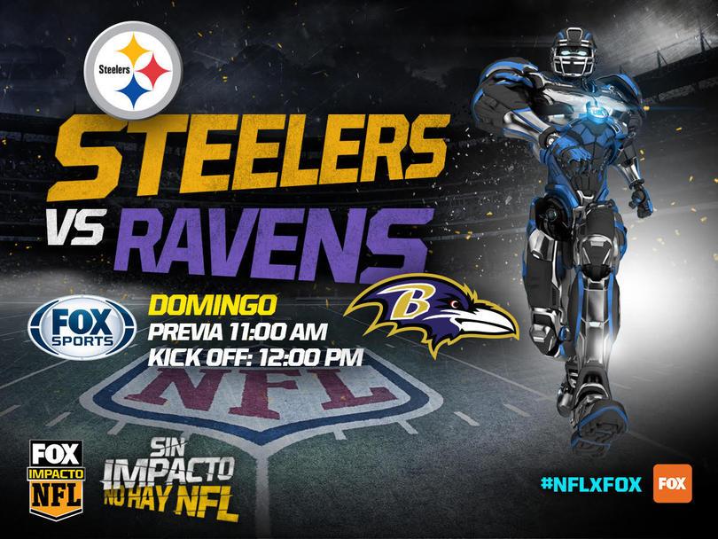 Steelers y Ravens chocarán el mediodía del domingo