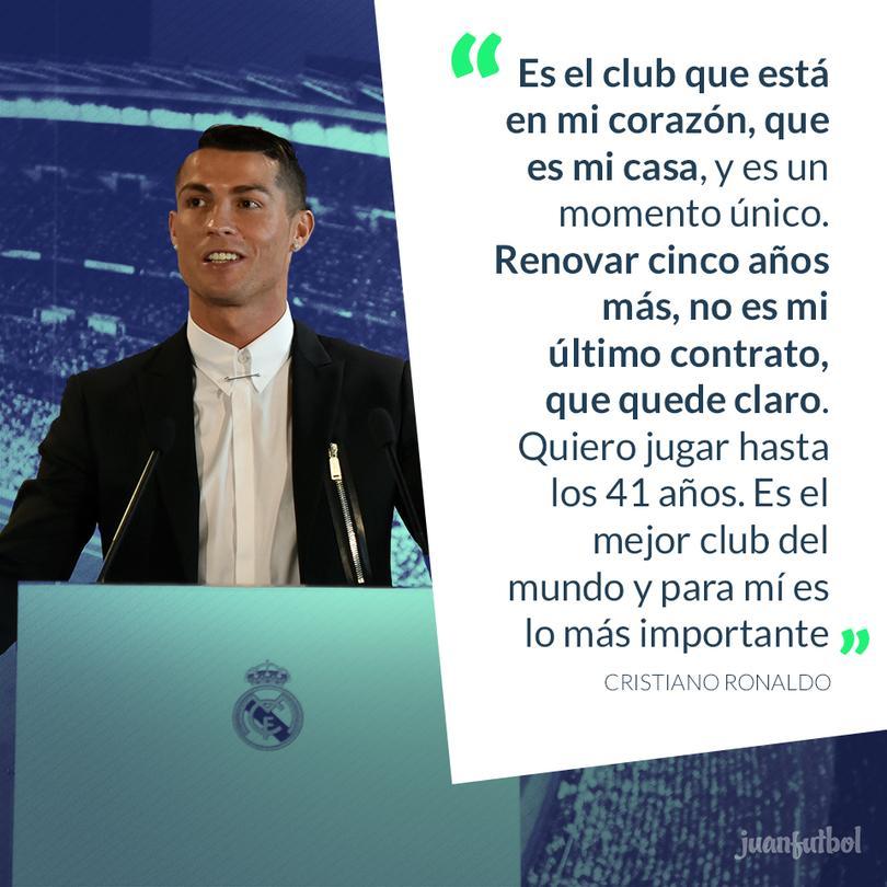 Cristiano Ronaldo quiere jugar hasta los 41 años