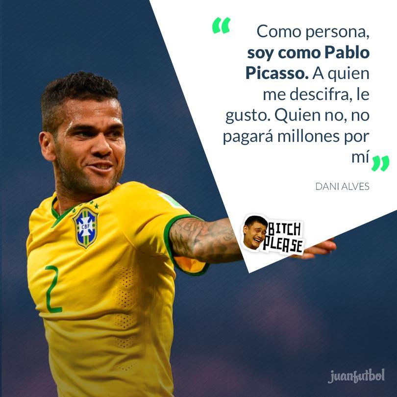 Alves se compara con Picasso