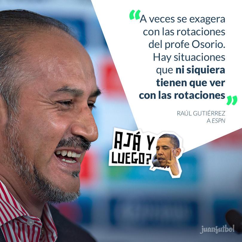Raúl Gutiérrez consideró que las críticas a las rotaciones de Juan Carlos Osorio son excesivas