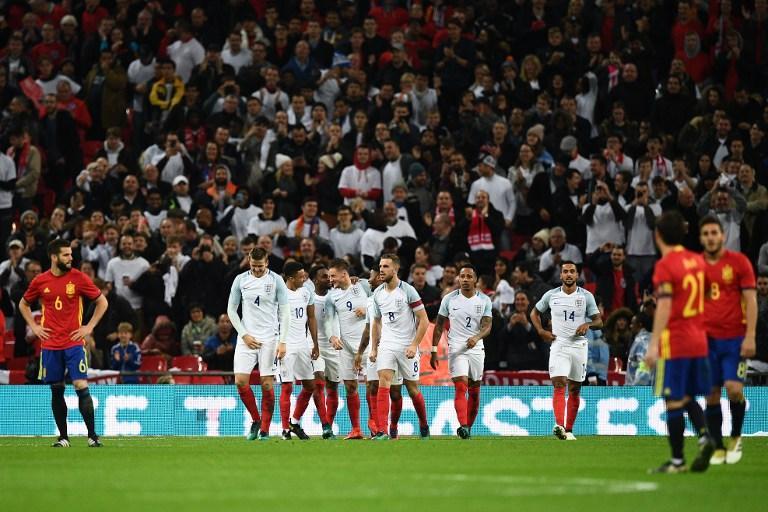 El atacante de Inglaterra marcó el segundo gol de su equipo frente a España y celebró de esta forma