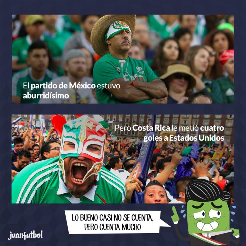 México empató a ceros con Panamá, pero a Estados Unidos le metieron cuatro