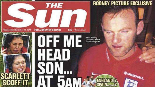Filtran las fotos de Rooney ebrio en la fiesta.