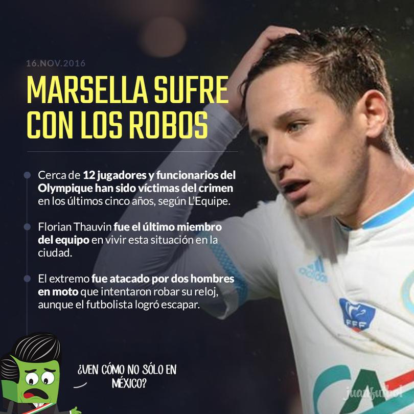 Varios miembros del club han sufrido con la delincuencia en la ciudad de Marsella