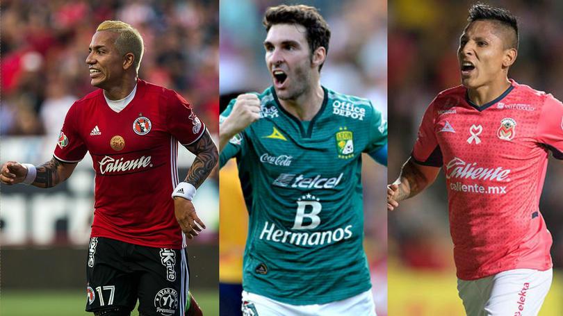 Moreno, Boselli y Ruidiaz se perfilan para ser goleadores de la Liga MX