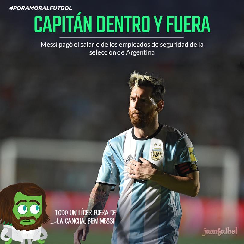 Messi pagó el salario de empleados de seguridad de Argentina