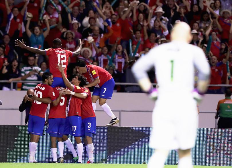 Costa Rica celebra su triunfo ante Estados Unidos