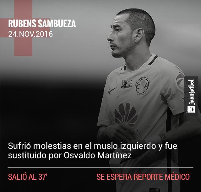 Sambueza sale por lesión