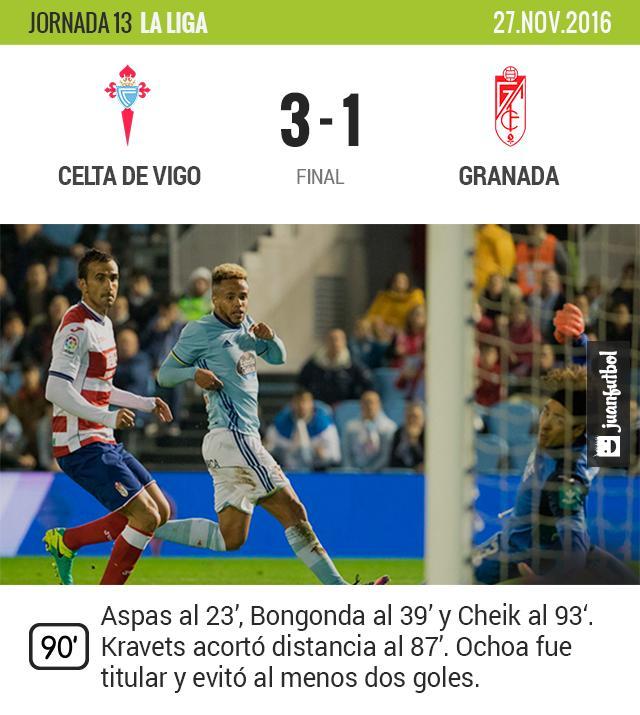 Ochoa y el Granada permanecen en el último lugar de la tabla