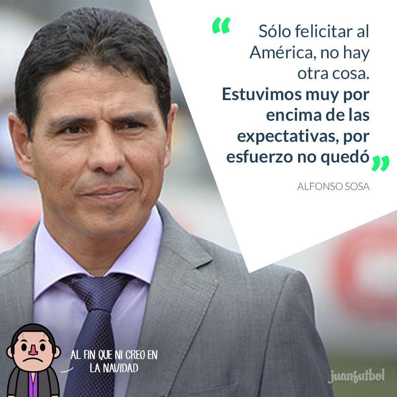 Alfonso Sosa felicita al América.