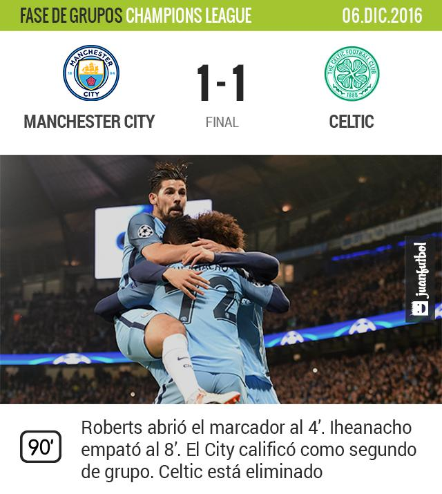 City empata ante el Celtic