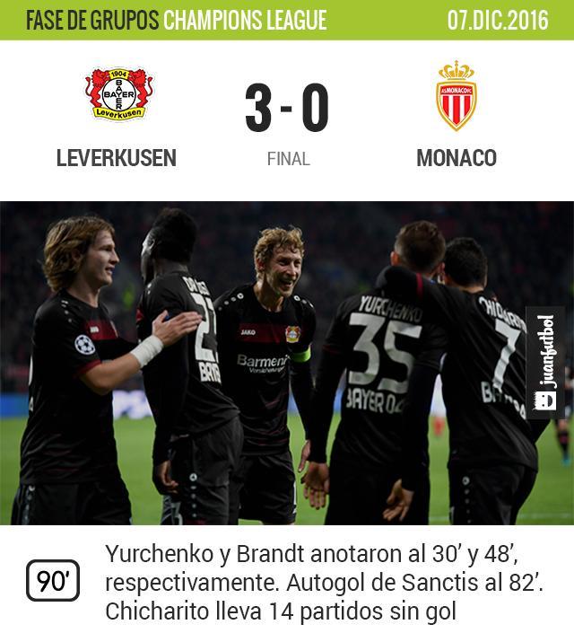 Leverkusen gana 3-0