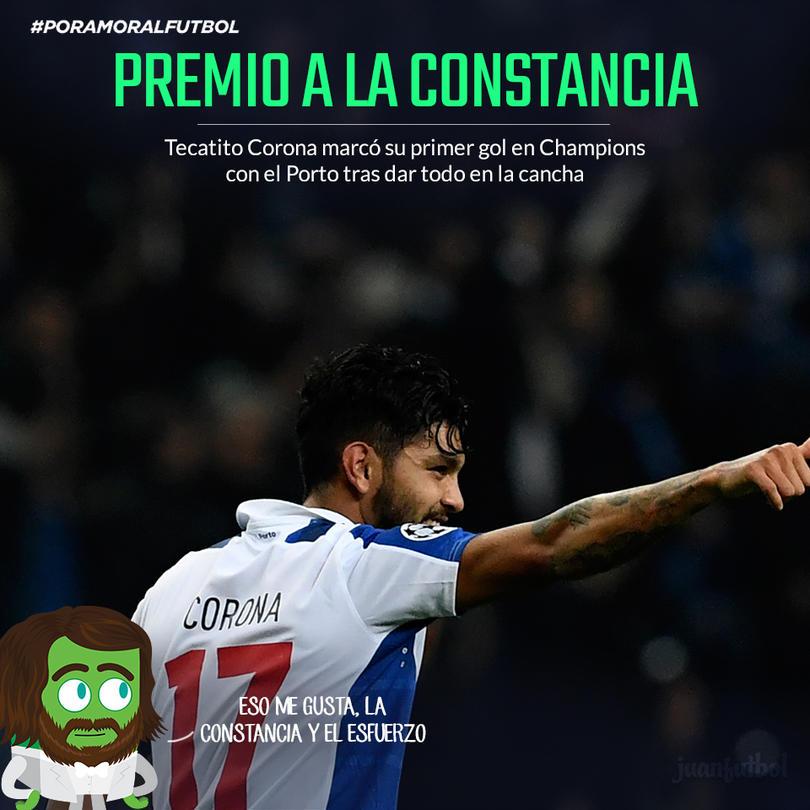 Jesús Corona marcó su primer gol en Champions