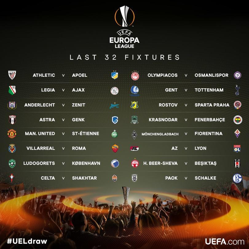 Los dieciseisavos de la Europa League
