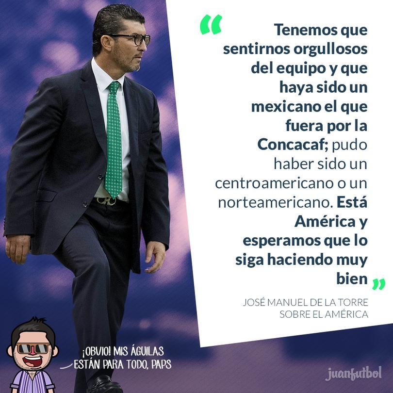 José Manuel De La Torre espera que América siga haciendo un buen papel
