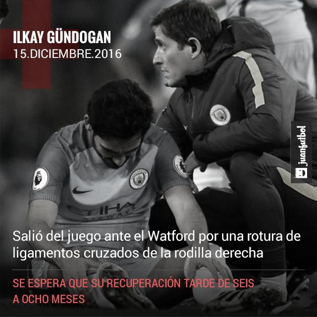 Gündogan se perderá el resto de la temporada