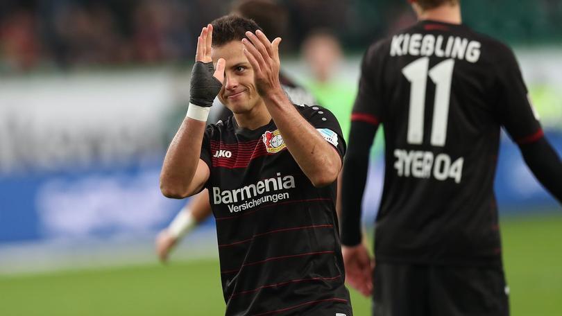 Javier Hernández tuvo un mal cierre con el Leverkusen