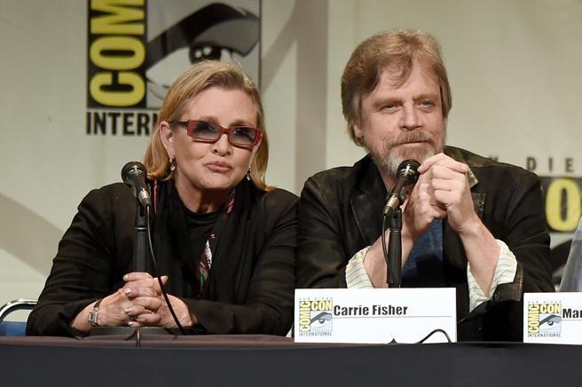 Fisher y Hamill durante la Comic Con de San Diego en 2015.