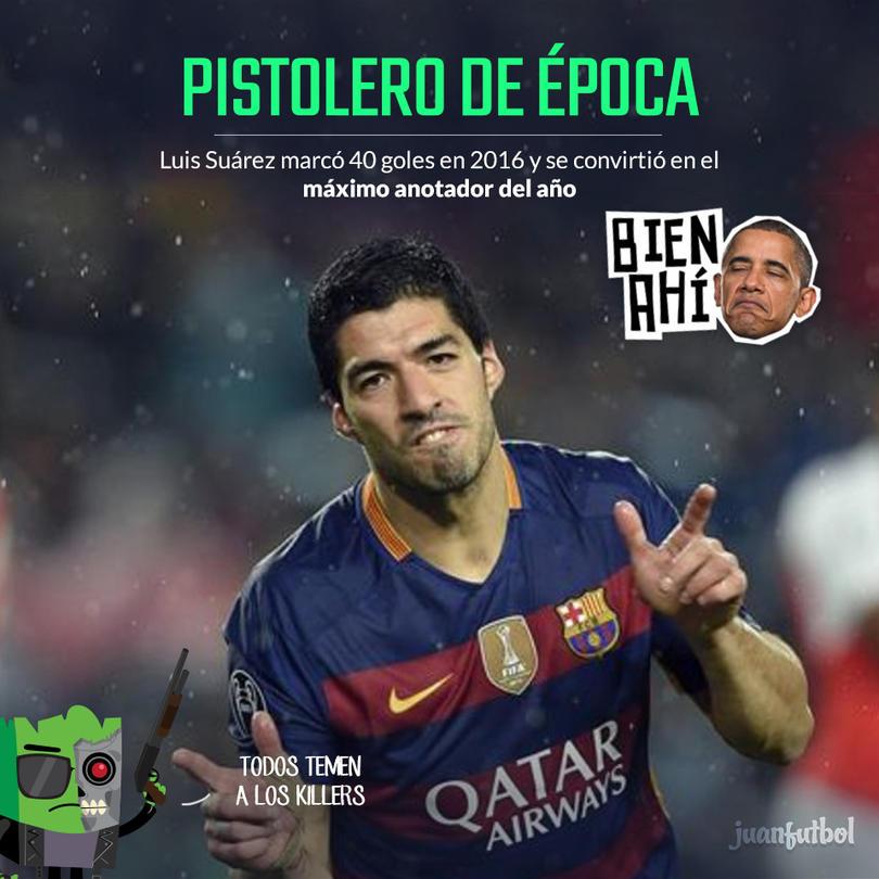 Luis Suárez se cansó de anotar en 2016