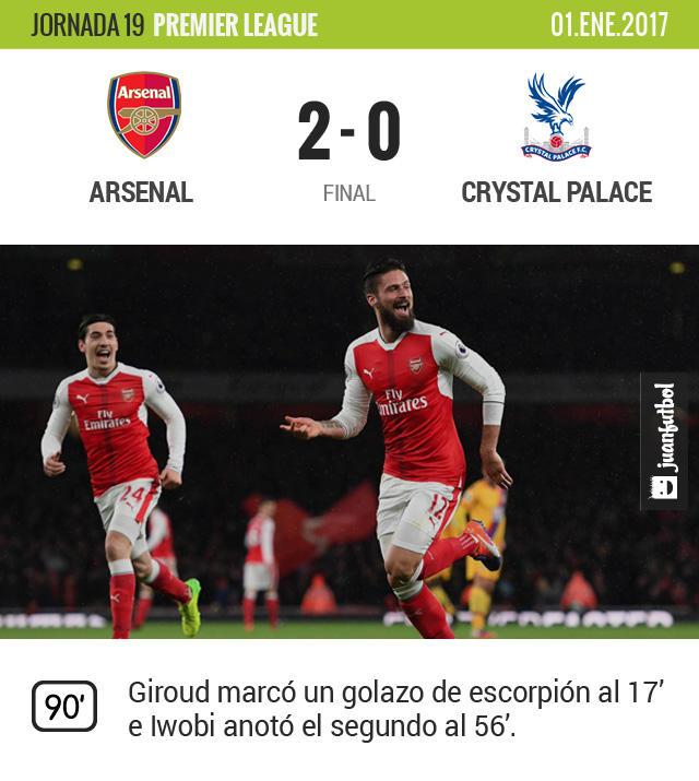 Arsenal gana con uno de los mejores goles de la temporada, escorpión de Giroud