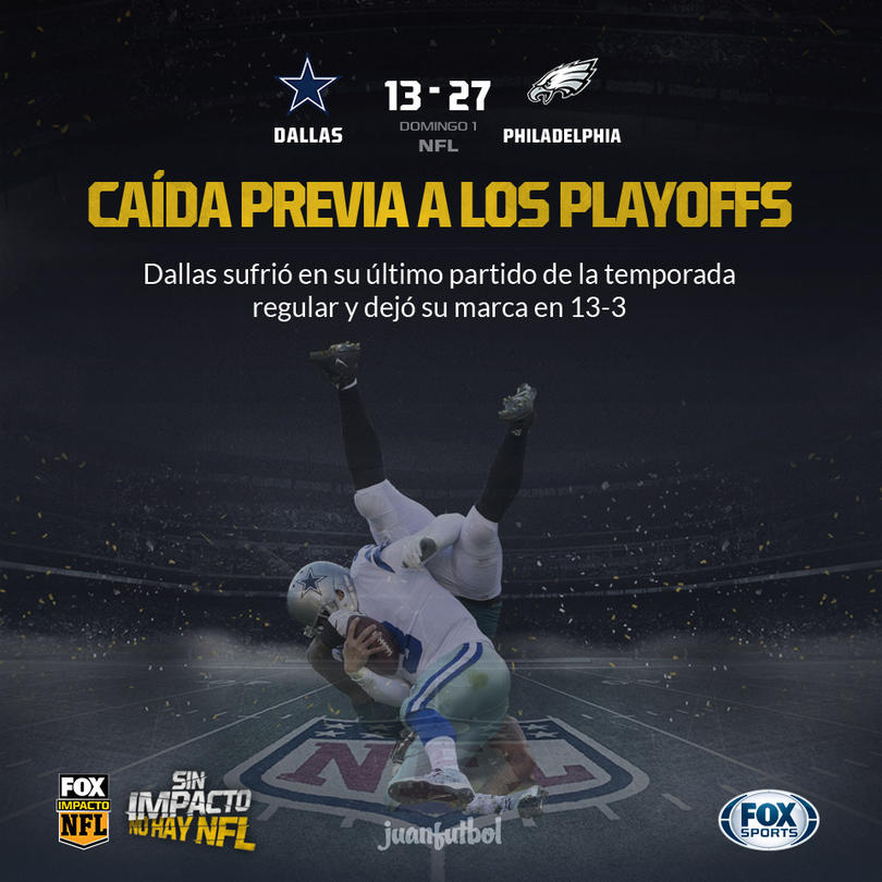 Dallas no pudo vencer a los Eagles