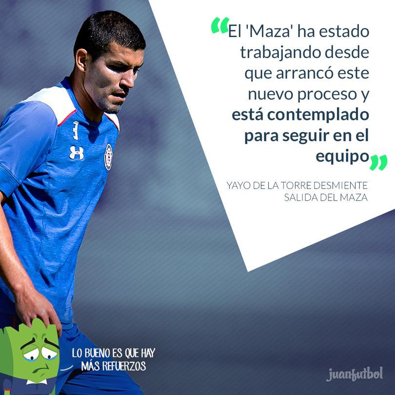 El Maza Rodríguez se quedará en Cruz Azul