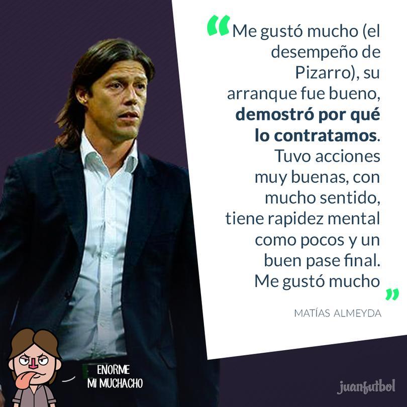 Almeyda contento con el desempeño de Pizarro.