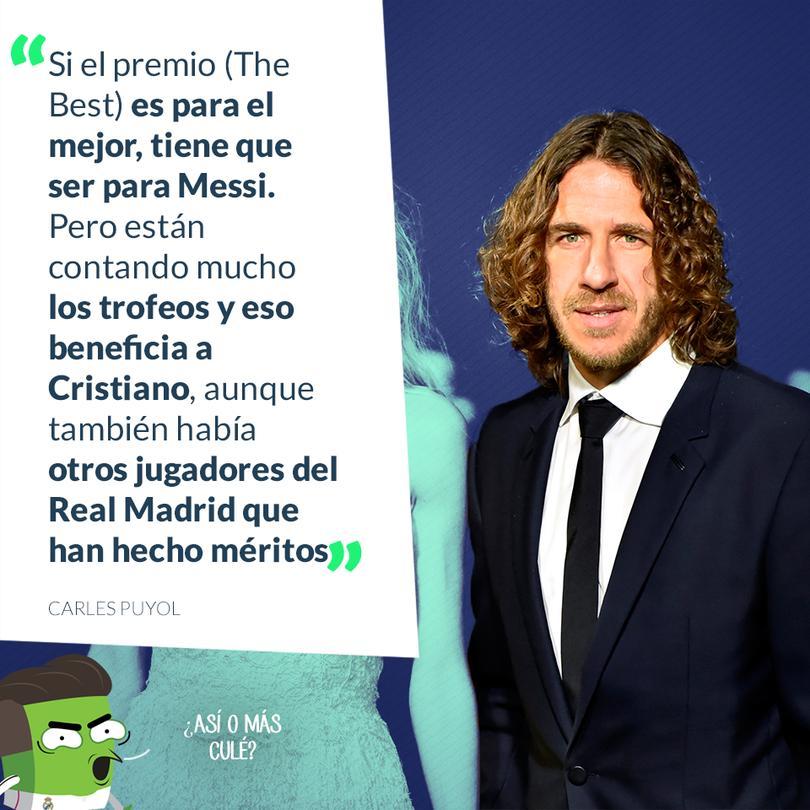 Puyol asegura que Messi debería ganar el premio al mejor jugador