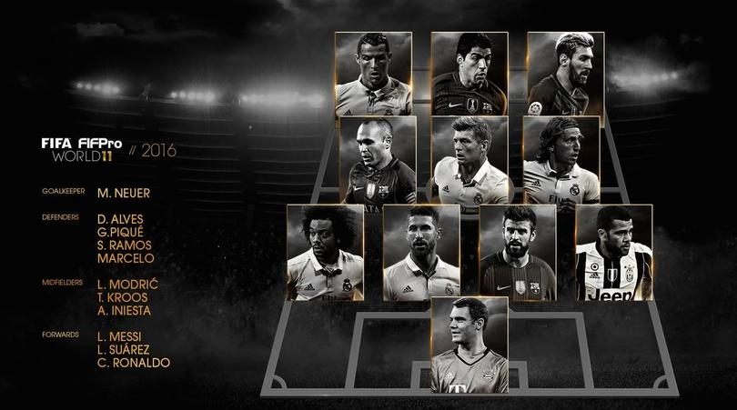 Este es el 11 ideal de la FIFA