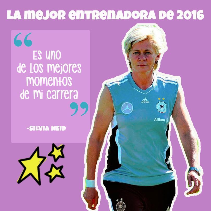 Silvia Neid elegida como la mejor entrenadora.