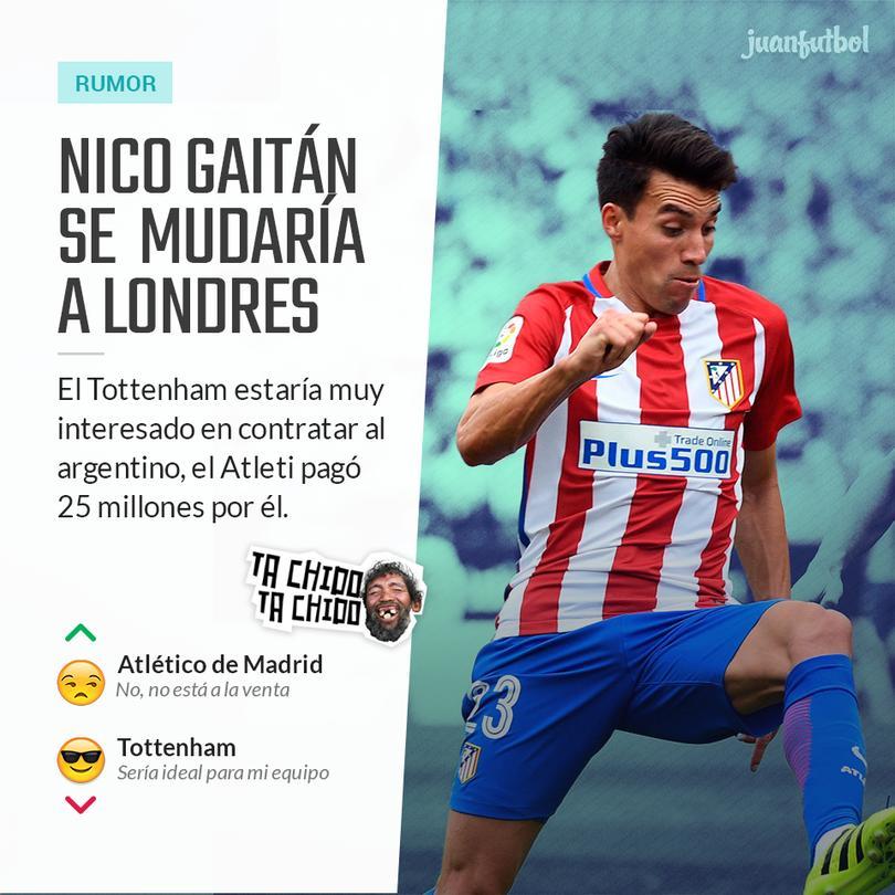 Nico Gaitán aún busca consolidarse en el Atlético de Madrid
