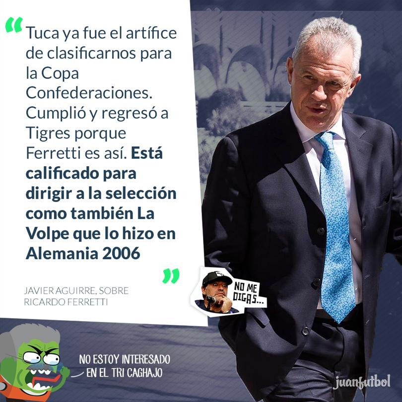 Javier Aguirre ve a Ricardo Ferretti regresando a la Selección Mexicana