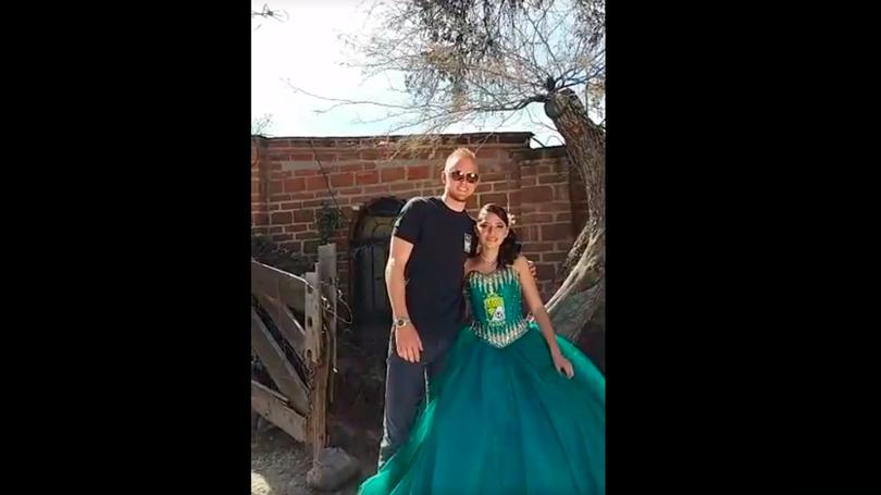 La quinceañera convive con William Yarbrough