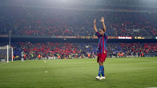 Ronaldinho en el Camp Nou