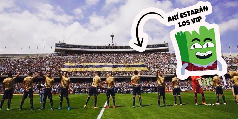 Pumas tendrá zona Vip en donde se ubicaba La Plus.
