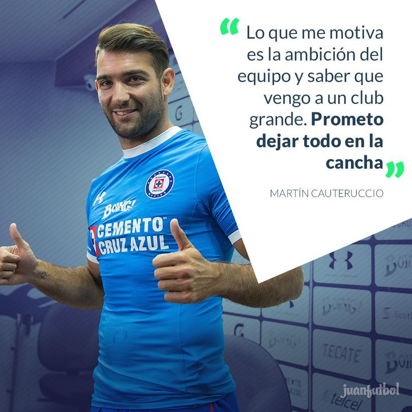Cauteruccio habló sobre su llegada a Cruz Azul