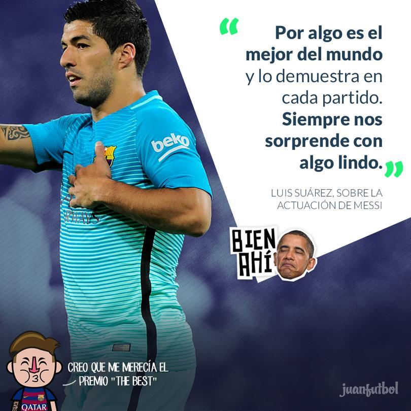 Luis Suárez llegó a 100 goles con el Barcelona