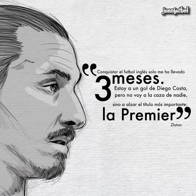 Zlatan, el conquistador del futbol inglés.