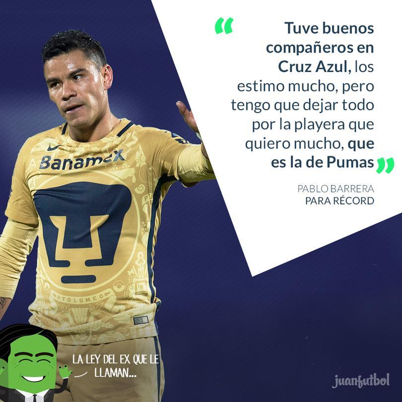 Barrera ha pasado por Pumas, Cruz Azul y Rayados en el futbol mexicano.