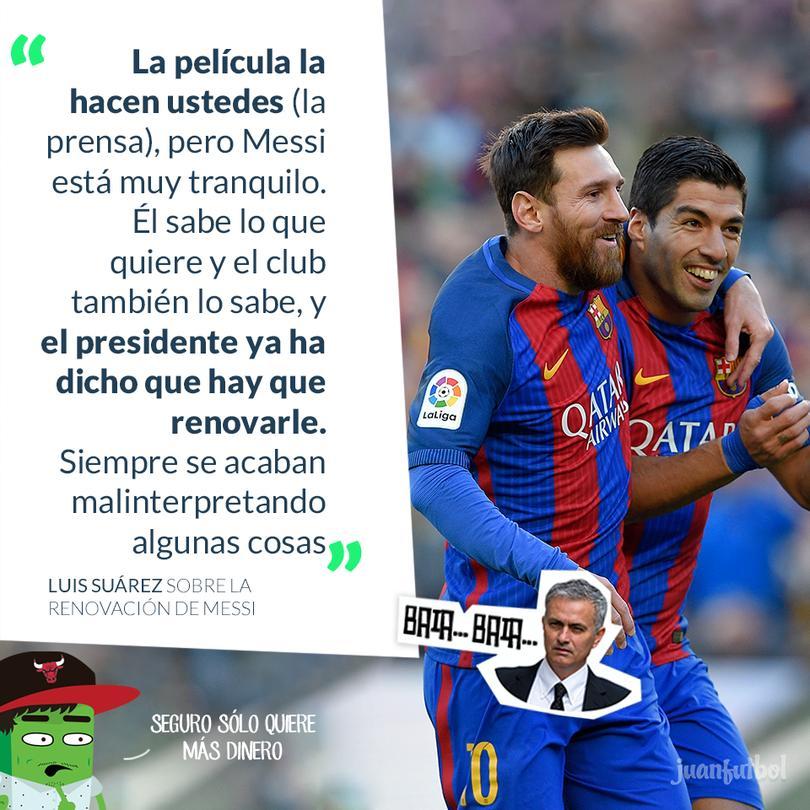 Suárez cierra la polémica y asegura que Messi renovará
