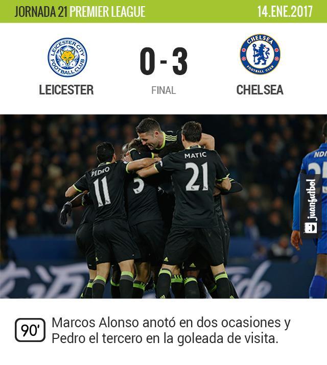 Chelsea vence de visita y no se baja de la punta